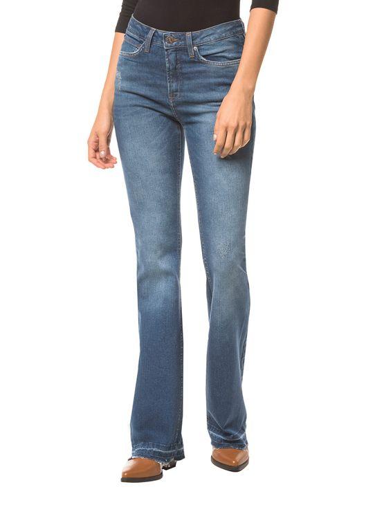 Calca-Jeans-Five-Pockets-Ckj-041-Mid-Rise-Flare---Azul-Medio---34