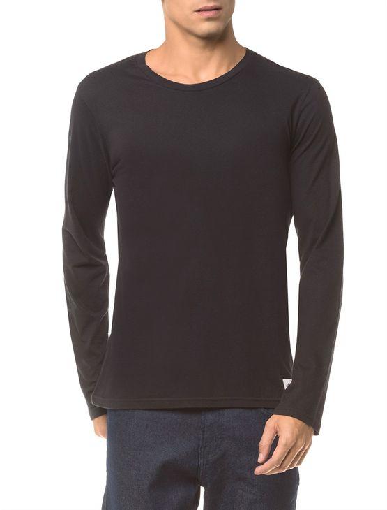Camiseta-Ckj-Ml-Etiqueta-Barra---Preto---GGG