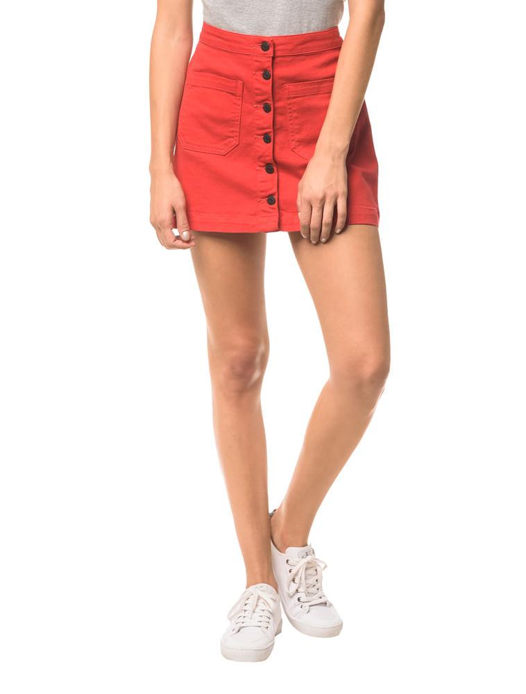 d5e01c848 Saia Color Botões - Vermelho   Calvin Klein - Calvin Klein