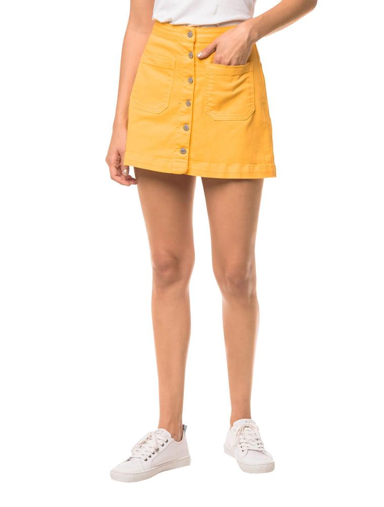 e23b70800 Saia Color Botões - Amarelo Ouro   Calvin Klein - Calvin Klein