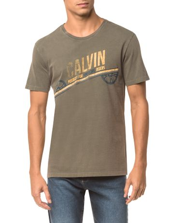 Camiseta-Ckj-Mc-Est.-Calvin-Engrenagem---Oliva---M