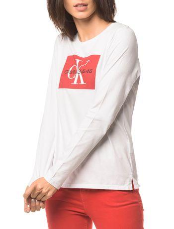 Blusa-Ckj-Fem-Ml-Logo---Branco-2---M