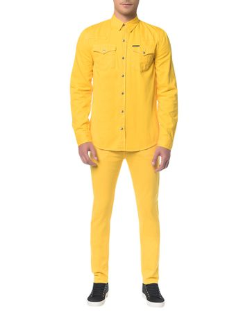 Calca-Color-Five-Pock-Slim---Amarelo-Ouro---40