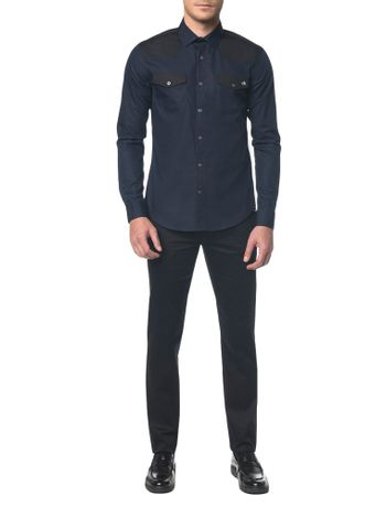 Camisa-Slim--Ml-Sport-Bicolor---Marinho---2