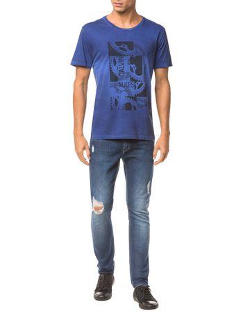 Camiseta-Ckj-Mc-Est-Engrenagem---Azul-Medio---PP