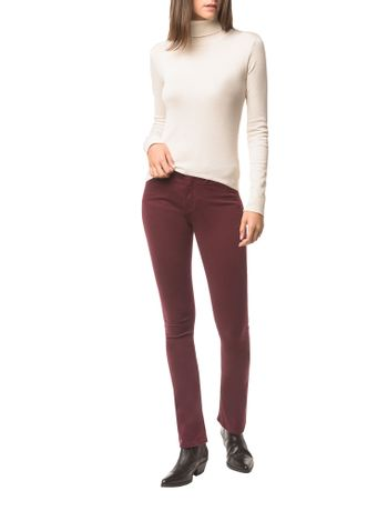 Calca-Jeans-Five-Pock-Kick-Flare---Bordo---34