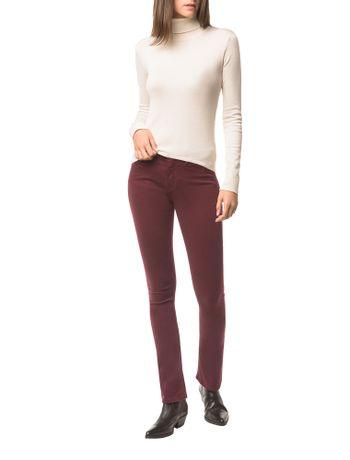 Calca-Jeans-Five-Pock-Kick-Flare---Bordo---36