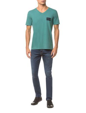 Camiseta-Ckj-Mc-Estampa-Quadrado-Peito---Verde---P