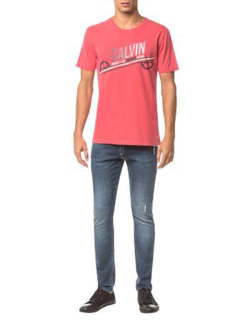 Camiseta-Ckj-Mc-Est.-Calvin-Engrenagem---Vermelho---M