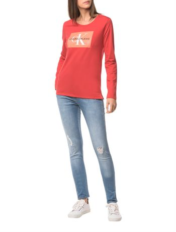 Blusa-Ckj-Fem-Ml-Logo---Vermelho---PP
