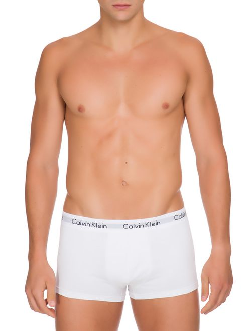 Kit 4 Cuecas Low Rise Trunk De Cotton - Branco 2