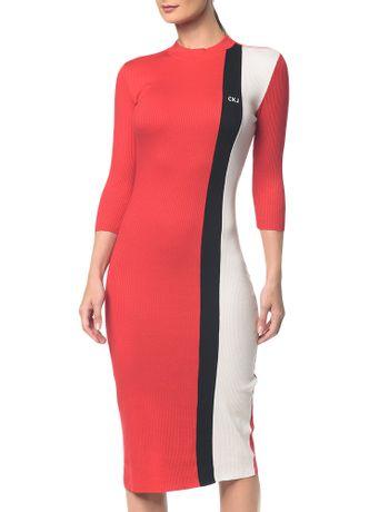 Vestido-Ckj-Mc-Tricolor---Vermelho-