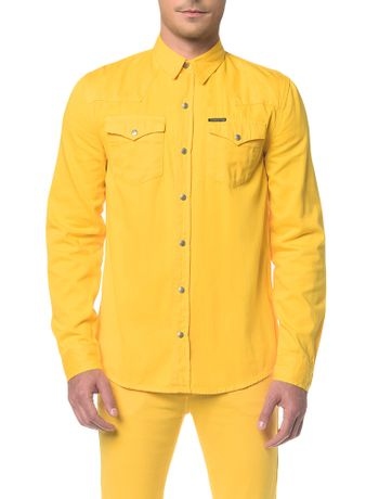 Camisa-Color-Manga-Longa---Amarelo-Ouro-