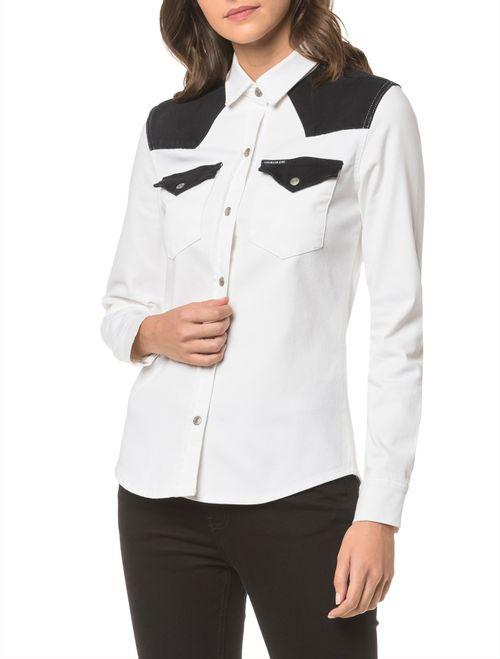 Camisa Color Manga Longa - Branco 2