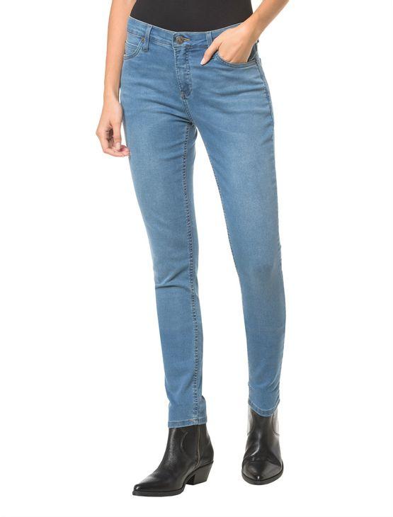 Calca-Jeans-Five-Pockets-Ckj-001-Super-Skinny---Azul-Medio-