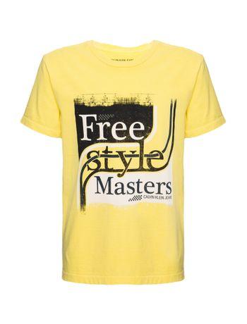 Camiseta-Ckj-Mc-Est-Free-Style---Amarelo-Ouro-