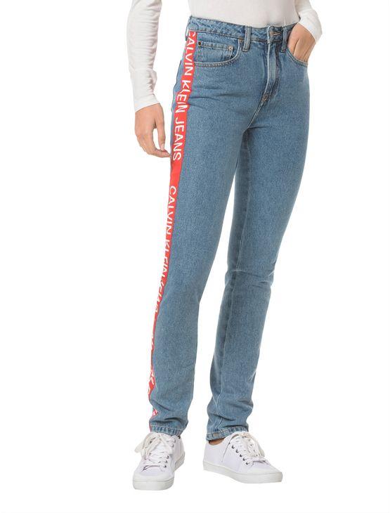 Calca-Jeans-Five-Pockets-Ckj-020-High-Rise-Slim---Azul-Medio-