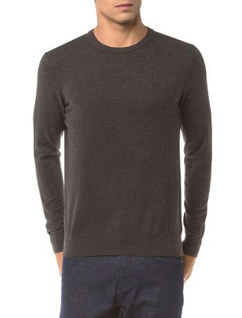 Sweater-Ckj-Masculino-Logo---Chumbo-