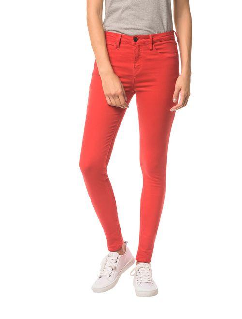 Calça Color Five Pock Super Skinny - Vermelho