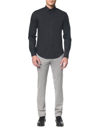 Camisa-Calvin-Klein-Extra-Slim-Simples---Preto-