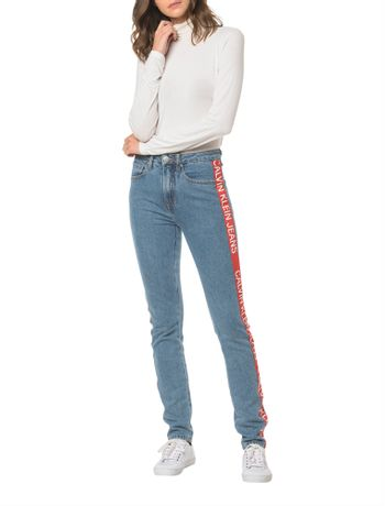 Calca-Jeans-Five-Pockets-Ckj-020-High-Rise-Slim---Azul-Medio-
