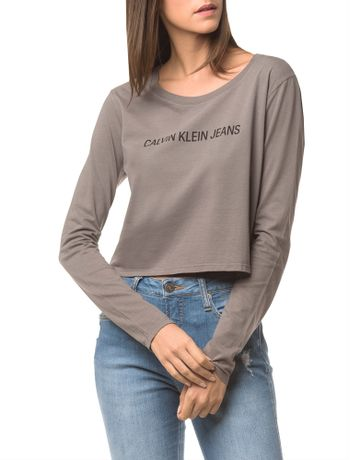 Blusa-Ckj-Fem-Ml-Cropped-Logo---Grafite-