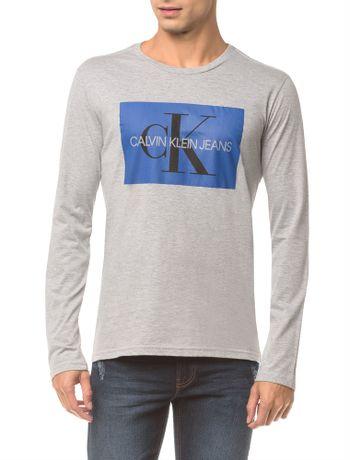 Camiseta-Ckj-Ml-Est-Quadrado-Logo---Mescla-