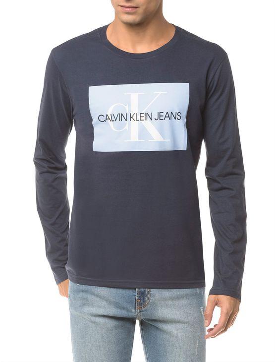 Camiseta-Ckj-Ml-Est-Quadrado-Logo---Marinho-