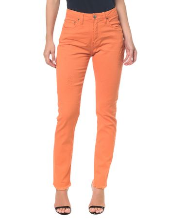 Calcas-Color-Five-Pockets-High-Rise-Slim---Laranja
