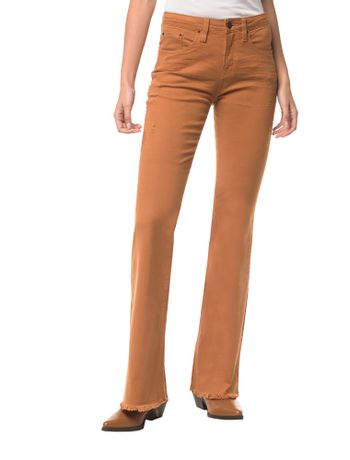 Calca-Color-Five-Pockets-Mid-Rise-Flare---Havana