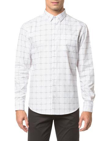 Camisa-Regular-Ml-Xadrez-Falhado---Branco-2