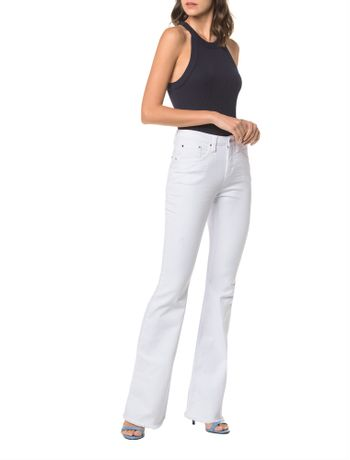 Calca-Color-Five-Pockets-Mid-Rise-Flare---Branco-2