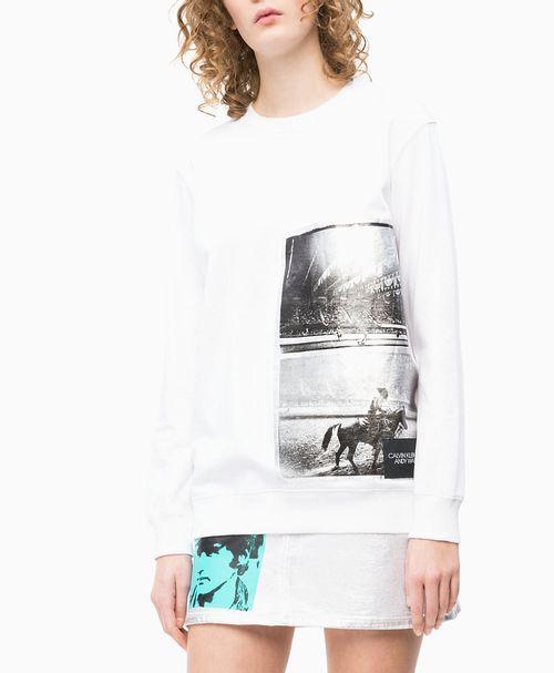 Casaco Ckj Fem Andy Warhol Rodeo - Branco