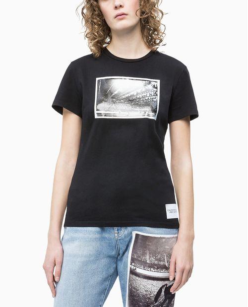 Blusa Ckj Fem M/C Andy Warhol Rodeo - Preto