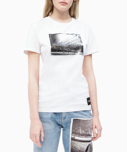 Blusa Ckj Fem M/C Andy Warhol Rodeo - Branco