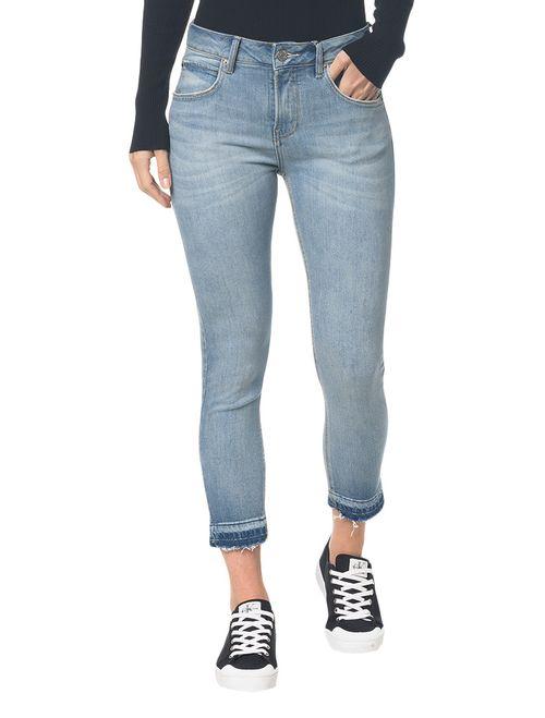 Calça Jeans Five Pockets Ckj 001 Super Skinny - Azul Claro