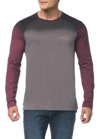 Camiseta-Ckj-Ml-Est-Logo-Redondo-Peito---Grafite-