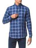 Camisa-Slim-Ml-Sport-Xadrez---Azul-Medio-