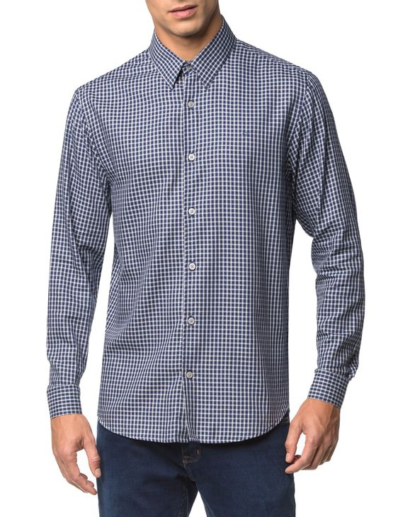Camisa-Regular-Ml-Sport-Xadrez---Marinho-
