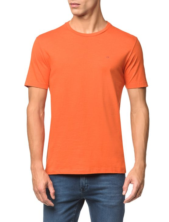 Camiseta-Slim-Careca-Flame-Calvin-Klein---Laranja-