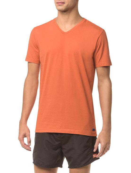 Camiseta-Ck-Swim-Gola-V-Etiqueta-Barra---Laranja-