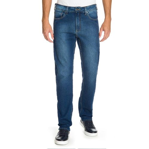 Calca Jeans Five Pockets Slim - Azul Médio