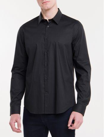 Camisa-Calvin-Klein-Extra-Slim-Simples---Preto