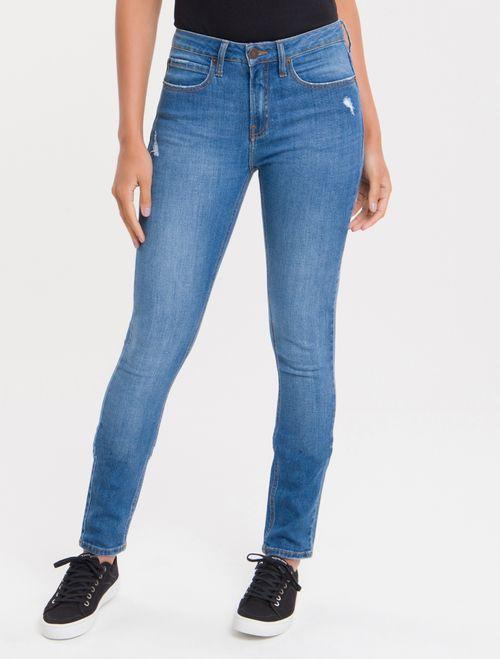 Calça Jeans Five Pockets Ckj 011 Mid Rise Skinny - Azul Médio