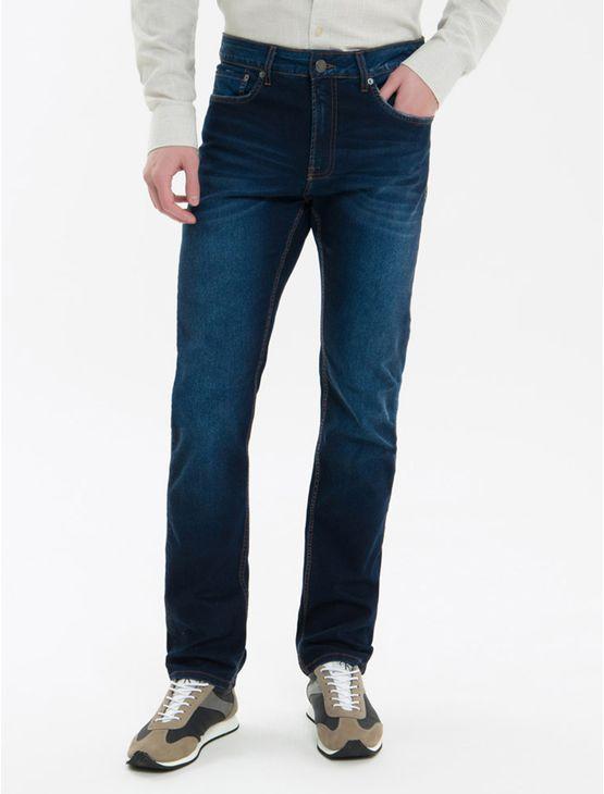 Calca-Jeans-Five-Pockets-Ckj-025-Slim-Straight---Azul-Marinho