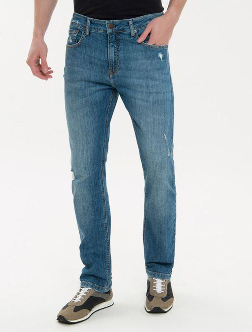 Calça Jeans Five Pockets Ckj 035 Straight - Azul Médio