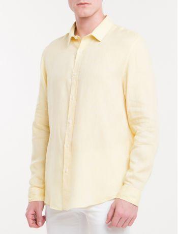 Camisa-Regular-Cannes-Linen---Amarelo-Claro