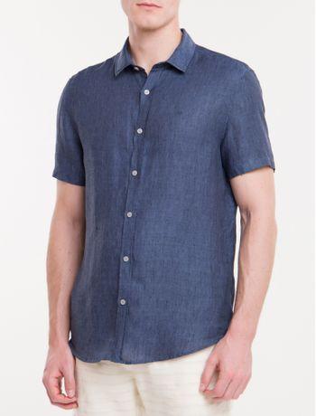 Camisa-Mg-Curta-Regular-Cannes-Linen---Azul-Marinho