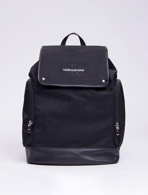 Mochila Ckj Masc Mono Flap Backpack 45 - Preto