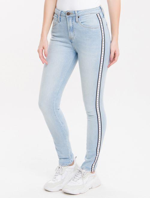 Calça Jeans Five Pockets Ckj 010 High Rise Skinny - Azul Claro